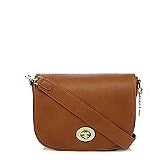 Marc B - Tan twist lock large saddle bag