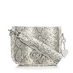 Marc B - White snakeskin small saddle bag