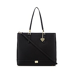 Marc B - Black heart charm shopper bag