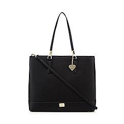 Marc B - Black heart charm shopper bag