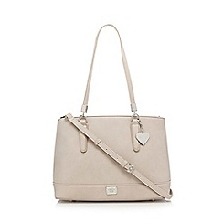 Marc B - Natural logo front shoulder bag