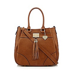 Marc B - Tan tassel front shoulder bag