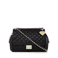 Marc B - Black quilted cross body bag