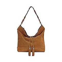 Nine by Savannah Miller - Tan 'Tara' suede bag