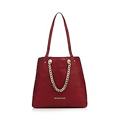 Valentino - Dark red 'Avantgarde' shopper bag