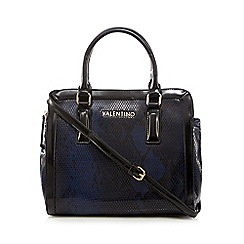 Valentino - Purple snakeskin effect grab bag