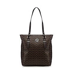 Valentino - Dark brown 'Valentine' shopper bag