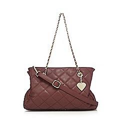 Marc B - Wine quilted 'Kate' shoulder bag