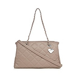 Marc B - Taupe 'Kate' quilted shoulder bag