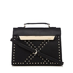 Faith - Black studded tote bag
