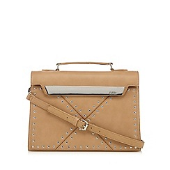 Faith - Light tan studded tote bag