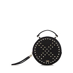 Faith - Black studded round cross body bag