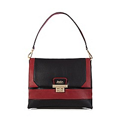 Faith - Red colour block shoulder bag