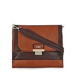 Faith - Tan colour block shoulder bag