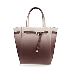 Faith - Mauve ombre front belt tote bag