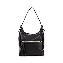 Faith - Black tassel zip shoulder bag