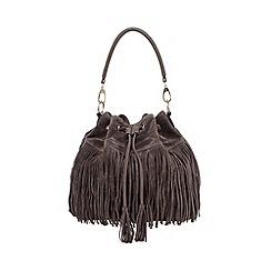 Faith - Grey fringed duffle bag