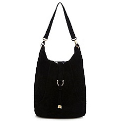 Faith - Black suede shopper bag
