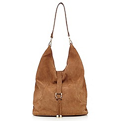 Faith - Tan suede shoulder bag