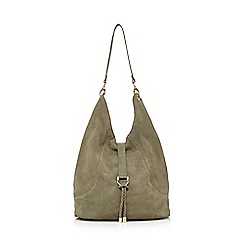 Faith - Khaki suede shoulder bag