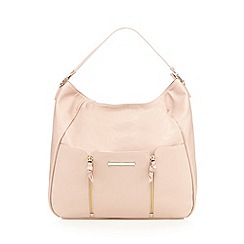 Red Herring - Light pink double zip hobo bag