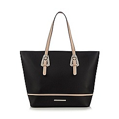 Red Herring - Black two buckle tote bag