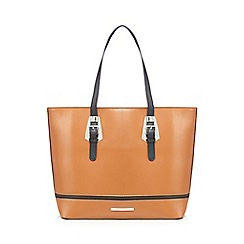 Red Herring - Tan two buckle tote bag