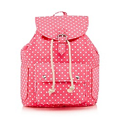 Red Herring - Pink polka dot backpack