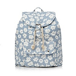 Red Herring - Light blue flower printed backpack