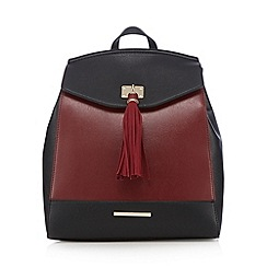 Red Herring - Dark red tassel backpack