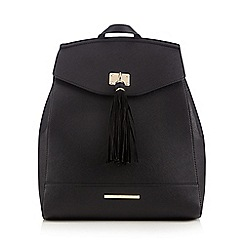 Red Herring - Black structured tassel backpack