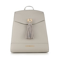 Red Herring - Grey tasselled backpack