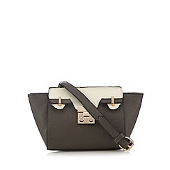 Red Herring - Grey winged mini cross body bag