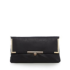 Red Herring - Black fold over clutch bag