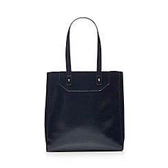 Red Herring - Navy patent unlined shopper bag