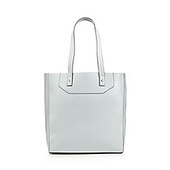 Red Herring - Pale grey patent unlined shopper bag