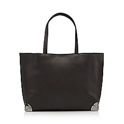 Red Herring - Grey metal corner tote bag