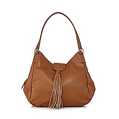 Red Herring - Tan tassel shoulder bag