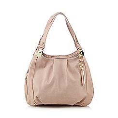 Red Herring - Light pink PU three compartment shoulder bag