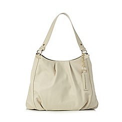 Red Herring - Cream PU three compartment shoulder bag