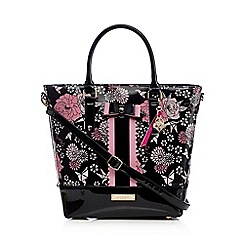 Floozie by Frost French - Black floral shopper bag