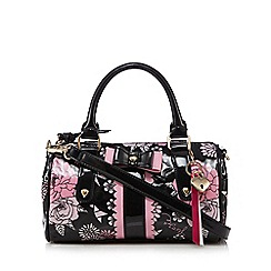 Floozie by Frost French - Black floral bowler bag