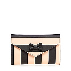 Floozie by Frost French - Natural wide striped clutch bag