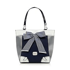 Floozie by Frost French - Navy striped bow shopper bag