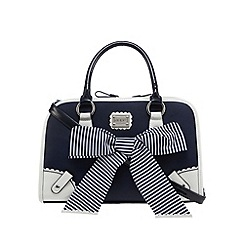 Floozie by Frost French - Navy striped bow box bag