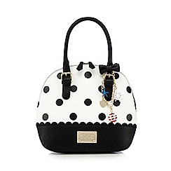 Floozie by Frost French - White patterned kettle bag