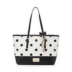 Floozie by Frost French - White patterned shopper bag
