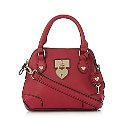 Floozie by Frost French - Pink heart padlock dome bag