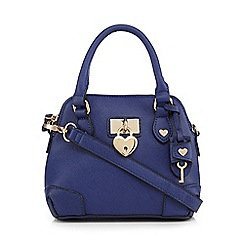 Floozie by Frost French - Navy heart padlock dome bag