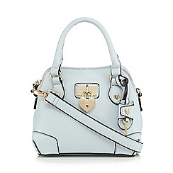 Floozie by Frost French - Blue heart padlock dome bag